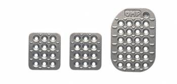 OMP Racing - OMP 3 Pedal Set - Sandblasted Aluminum