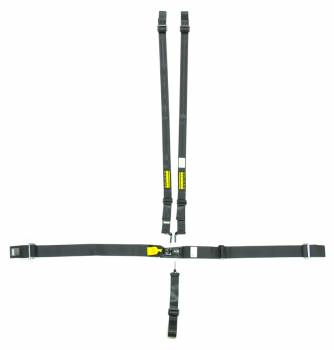 "Schroth Racing - Schroth 5-Point Latchlink III Harness System - Pull Up - Left Side Adjuster -V-Type - 2"" Shoulder - Black"