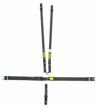 """Schroth Racing - Schroth 5-Point Latchlink III Harness System - Pull Down - Left Side Adjuster - V-Type - 2"""" Shoulder - Black"""