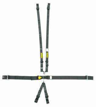 "Schroth Racing - Schroth 6-Point Latchlink III Harness System - Pull Down - Right Side Adjuster - V-Type - 2"" Shoulder - Black"