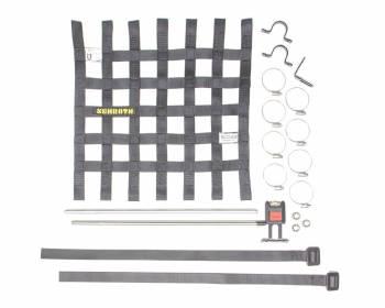 "Schroth Racing - Schroth 16"" x 16"" Window Net w/Mounting Hardware - Black"