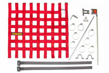 "Schroth Racing - Schroth 20"" x 18.5"" Window Net Kit w/Mounting Hardware - Red"