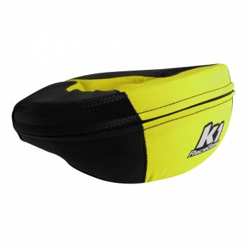 K1 RaceGear - K1 RaceGear Junior Carbon-Look Neck Brace - Carbon/Yellow