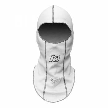 K1 RaceGear Single Layer Nomex Balaclava - White - 26-SLH-W