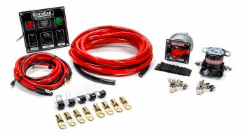 QuickCar Racing Products - QuickCar Wiring Kit 4 Gauge w/ Black 50-822 Panel