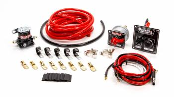 QuickCar Racing Products - QuickCar Wiring Kit 4 Gauge w/ Black 50-802 Panel
