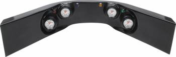 QuickCar Racing Products - QuickCar 4-Gauge Molded Dash OP/ WT/OT/FP Black
