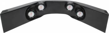 QuickCar Racing Products - QuickCar Extreme 4-Gauge Molded Dash OP/WT/OT/FP Black