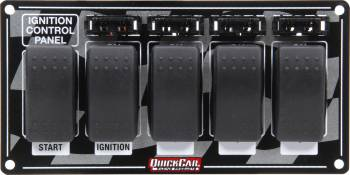 QuickCar Racing Products - QuickCar Ignition Panel w/ Rocker Switches & Fuses