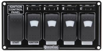 QuickCar Racing Products - QuickCar Ignition Panel w/ Rocker Switches Fuses & Lights