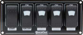 QuickCar Racing Products - QuickCar Ignition Panel w/ Rocker Switches & Lights