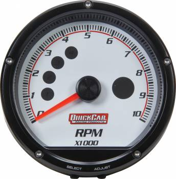 QuickCar Racing Products - QuickCar Redline Multi-Recall Tach White