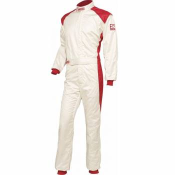 Simpson HPD-1 Auto Racing Suit - White/Red