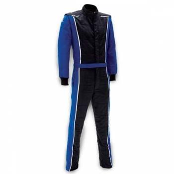 Impact - Impact Racer Firesuit - Black/Blue - Medium