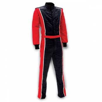 Impact - Impact Racer Firesuit - Black/Red - Large