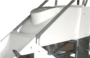 Triple X Race Co. - Triple X Midget Hood Inside The Rail - White