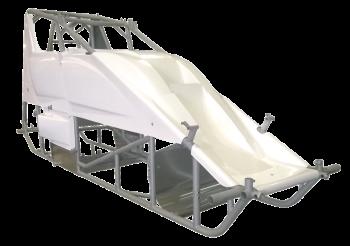Triple X Race Components - Triple X Sprint Car Kit B (Body & Tin) X-Wedge Design Blk