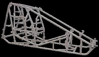 Triple X Race Co. - Triple X Sprint Car Kit B X-Wedge White Inside Rail Body