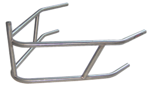 Triple X Race Co. - Triple X Sprint Car Rear Bumper w/ Post - 4130 Chromoly - Black
