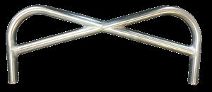 Triple X Race Components - Triple X Sprint Pretzel Style Front Bumper - Polished Stainless Steel