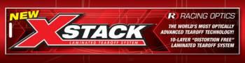 Racing Optics - Racing Optics X-Stack Tearoffs - Clear - Fits RS7 - SE07 Shield - Banana - Large Tab