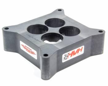 "HVH - High Velocity Heads - HVH 2"" Tall Aluminum Super Sucker Carburetor Spacer for 4150 Series Carburetors"