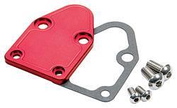 Allstar Performance - Allstar Performance SB Chevy Fuel Pump Block-Off Plate - Red