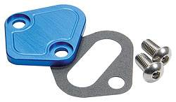 Allstar Performance - Allstar Performance BB Chevy Fuel Pump Block-Off Plate - Blue