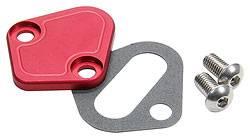 Allstar Performance - Allstar Performance BB Chevy Fuel Pump Block-Off Plate - Red