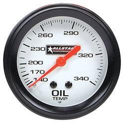 """Allstar Performance - Allstar Performance Oil Temperature Gauge - 2-5/8"""" Diameter - 140-280F"""