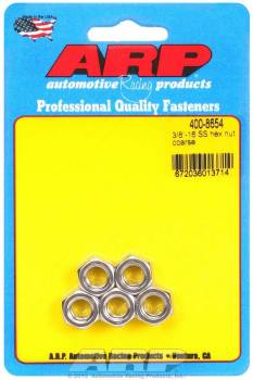 ARP - ARP Stainless Steel Hex Nuts - 3/8-16 (5)