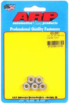 ARP - ARP Stainless Steel Hex Nyloc Nuts 1/4-20 (5)