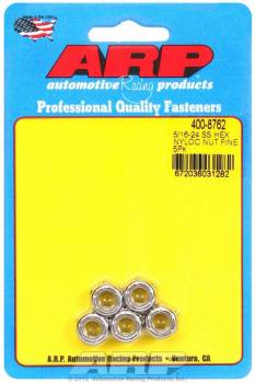 ARP - ARP Stainless Steel 6 Point Fine Nyloc Nuts - 5/16-24 (5)