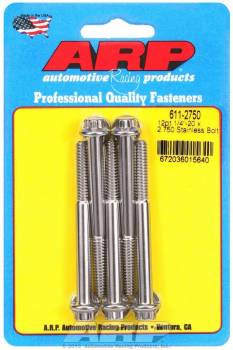 ARP - ARP Stainless Steel Bolt Kit - 12 Point (5) 1/4-20 x 2.750