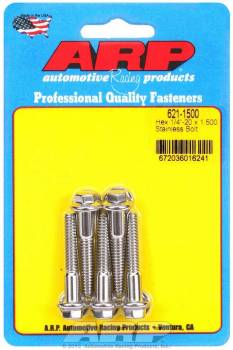 ARP - ARP Stainless Steel Bolt Kit - 6 Point (5) 1/4-20 x 1.500