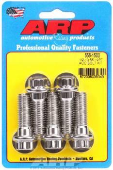 ARP - ARP Stainless Steel Bolt Kit - 12 Point (5) 1/2-13 x 1.500
