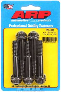 ARP - ARP Bolt Kit - 12 Point (5) 10mm x 1.25 x 60mm