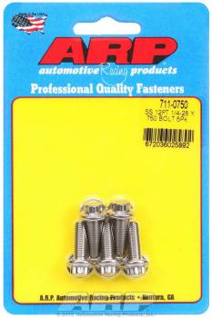ARP - ARP Stainless Steel Bolt Kit - 12 Point (5) 1/4-28 x .750