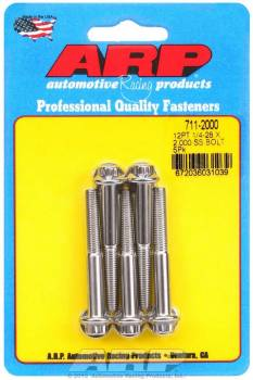 ARP - ARP Stainless Steel Bolt Kit - 12 Point (5) 1/4-28 x 2.000
