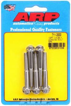 ARP - ARP Stainless Steel Bolt Kit - 12 Point (5) 1/4-28 x 2.000