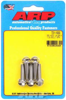 ARP - ARP Stainless Steel Bolt Kit - 6 Point (5) 1/4-28 x 1.000