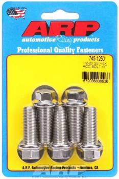 ARP - ARP Stainless Steel Bolt Kit - 6 Point (5) 1/2-20 x 1.250