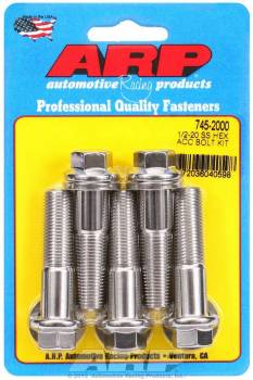 ARP - ARP Stainless Steel Bolt Kit - 6 Point (5) 1/2-20 x 2.000