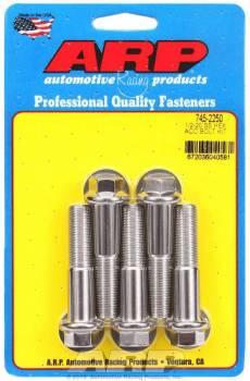 ARP - ARP Stainless Steel Bolt Kit - 6 Point (5) 1/2-20 x 2.250