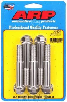 ARP - ARP Stainless Steel Bolt Kit - 6 Point (5) 1/2-20 x 3.000