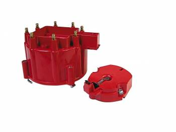 MSD - MSD Distributor Cap and Rotor - GM HEI - Red