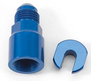 Russell Performance Products - Russell EFI Fuel Fitting 6 AN Male to 1/4 Female Blue