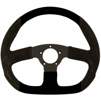 "Grant Steering Wheels - Grant Suede D - Shaped Steering Wheel - 13 3/4"" - Black"