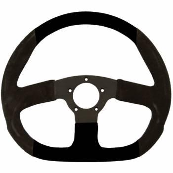 """Grant Steering Wheels - Grant Suede D - Shaped Steering Wheel - 13 3/4"""" - Black"""