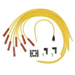 Accel - ACCEL Universal Fit Super Stock 8mm Suppression Spark Plug Wire Set - Yellow